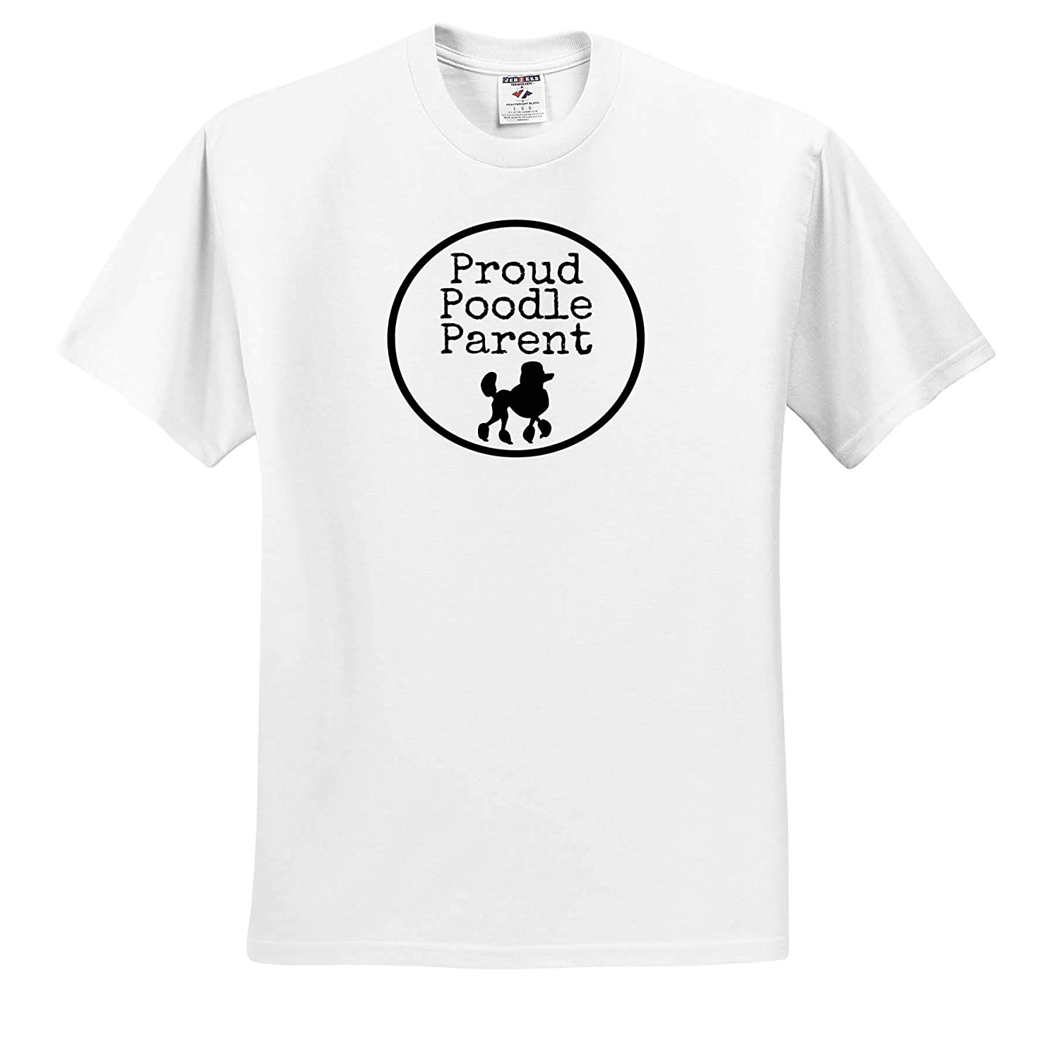 3dRose Carrie Quote Image Adult T-Shirt XL Image Quote Proud Poodle Parent ts/_321064
