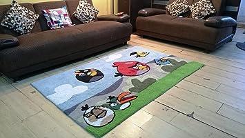 JOJO DESIGNS Cotton Hand Tuffted Carpet Kids Room Angry Birds RH41 4feet X 6feet