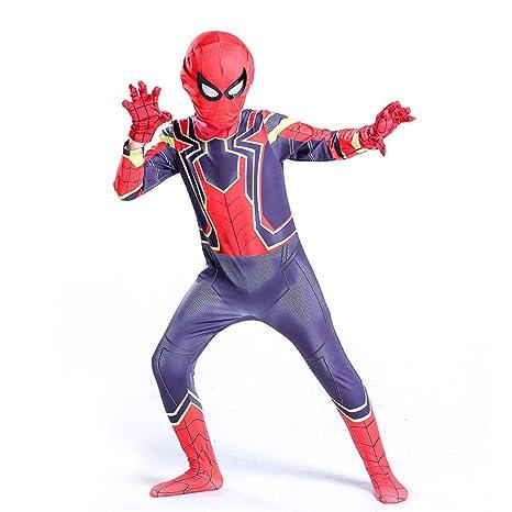 QXMEI Medias Siamesas De Iron Spiderman para Niños Cosplay ...