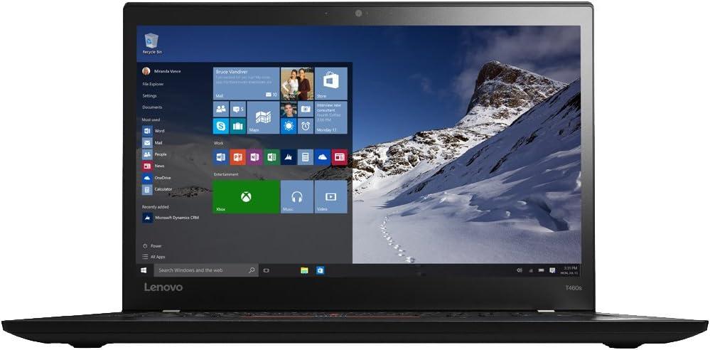 "Lenovo ThinkPad T460s Ultrabook 20F9004FUS (14"" Intel Core i5-6200U 2.3GHz, 8GB RAM,192 GB SSD, Fingerprint Reader, Backlit Keyboard, Webcam Windows 7 Pro 64)"