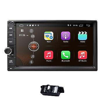 Universal 2Din coche Auto Radio GPS navegación hizpo 7 Pulgadas pantalla táctil Android 8.1 OS 2 GB RAM en Dash Multimedia reproductor Wifi BT apoyo ...