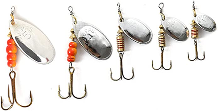 Baits & Scents Fishing Tool,Outdoor Spoon Fishing Lure Silver ...