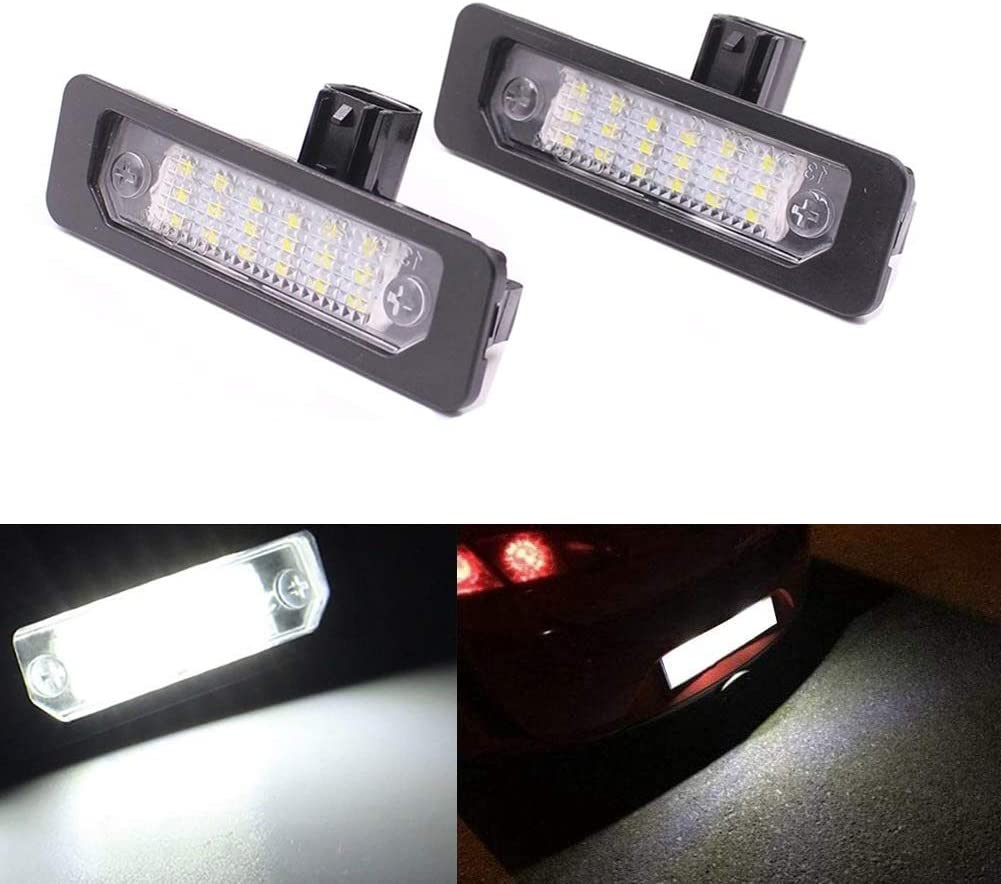 LED Number License Plate Light 18SMD 6500K Super White LED Lights with Canbus Error Free For Ford Mustang Focus Fusion Flex Mercury sable milan Lincoln MKS MKT MKX MKZ Pack of 2Pcs