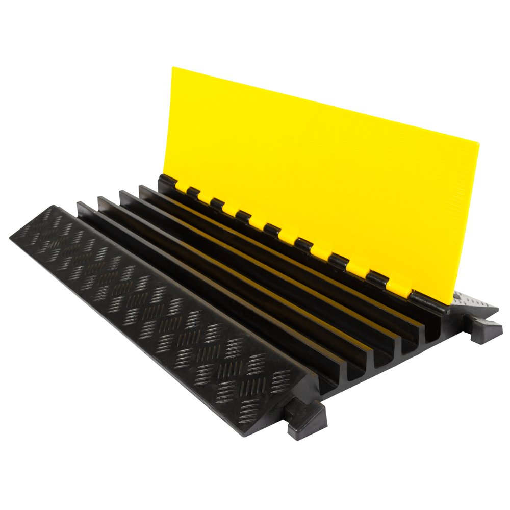 Rage Powersports DH-CP-2 5 Channel Industrial Rubber Cable Ramp (Straight)