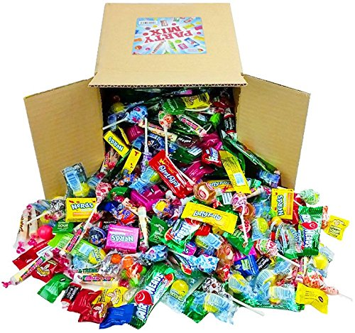 Assorted Candy Party Mix, Appx. 8 LB Bulk: Fire Balls, Airheads, Jawbusters, Laffy Taffys, Tootsie Rolls and Much More of Your Favorite Candy! (Best Candy To Throw In A Parade)