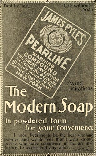 1899 Ad James Pyle Pearline Washing Compound Detergent Soap Household Chores - Original Print Ad from PeriodPaper LLC-Collectible Original Print Archive