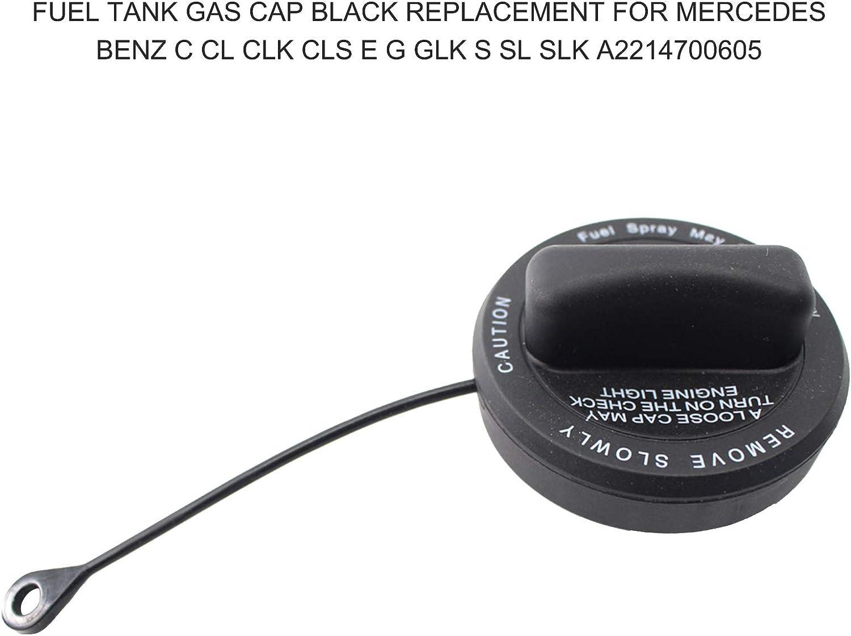 pedkit Fuel Tank Gas Cap A2214700605,Fuel Tank Gas Cap Black Replacement for Mercedes Benz C CL CLK CLS E G GLK S SL SLK A2214700605