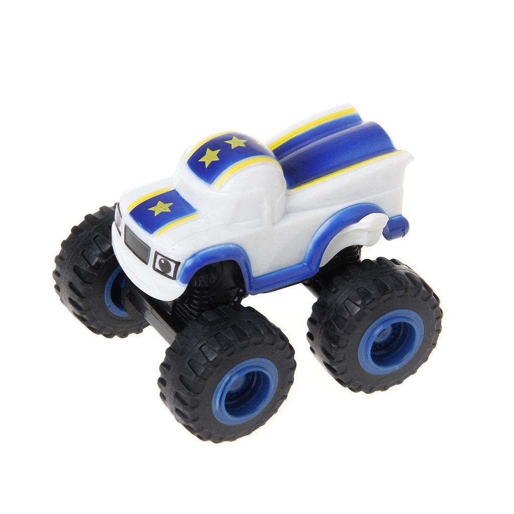 Dabixx Car Toy, Blaze Machines Vehicle Toy Racer Cars Truck Transformation Toys Gifts for Kids - White