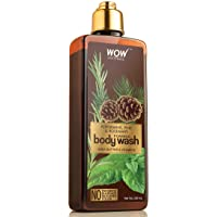 WOW Peppermint, Pine, And Rosemary Foaming Body Wash - For Cleaner & Smoother Skin - Shea Butter & Vitamin E - For Men…
