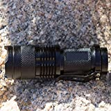 Best Black Compact Tactical Flashlight for Everyday Carry - Super Bright 500 Lumen LED Beam with 3 Modes!