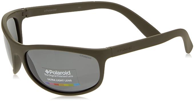 Polaroid Unisex adulto P7334 Y2 BB1 63 Gafas de sol, Verde (Milit Green/