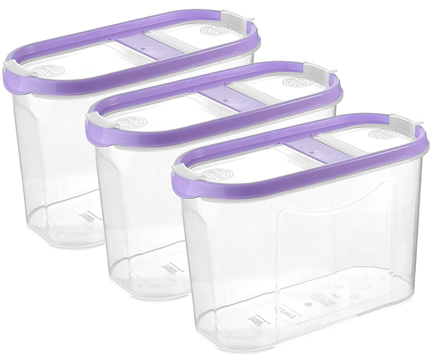 3, 1,4L - Mix 2 Aufklappbare Deckel My-goodbuy24 Sch/üttdosen f/ür M/üsli stapelbar 3er Set Cornflakes Vorratsdosen f/ür Lebensmittel Frischhaltedosen Streudosen Sp/ülmaschinenegeeignet
