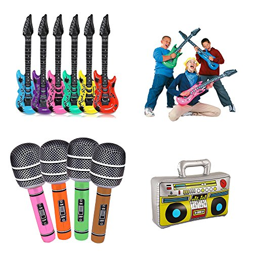 Koogel Inflatable Rock Star Toy Set, 6pcs 36''