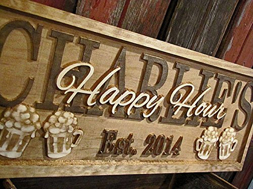 Personalized Family Name Beer Mugs Signs CARVED Custom Wooden Sign Last name Wedding Gift Established Anniversary custom personalized sign