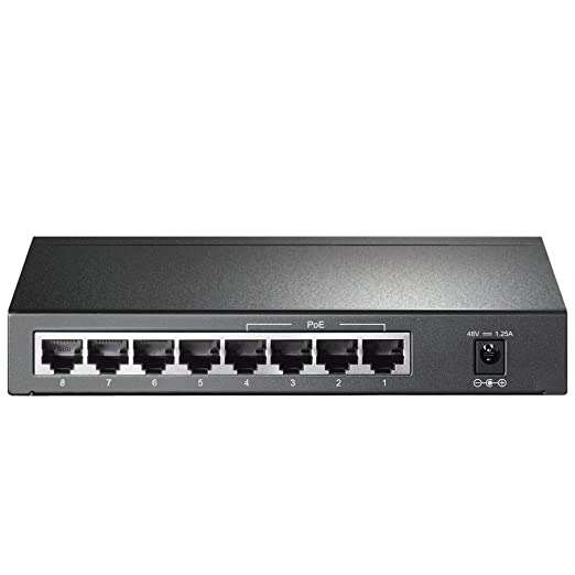 21 opinioni per TP-link TL-SG1008P Desktop PoE Switch, 8 Porte 10/100/1000 Mbit, 4 Porte PoE, 53