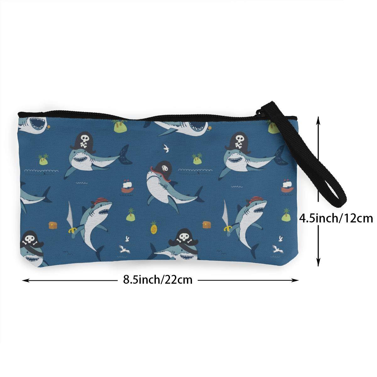 Amazon.com: Cartera de lona con diseño de tiburón pirata ...