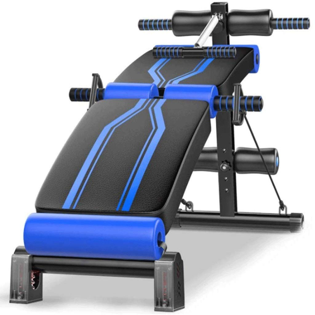 SPTAIR Sit-up Board Combination Fitness Equipment Chair Curved Bench Press Thin Waist Dumbbell Bench Adjustable Multi-Function Folding by SPTAIR