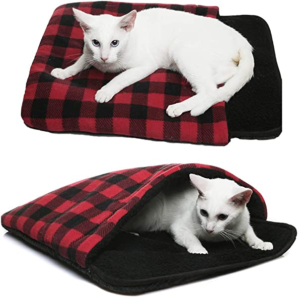 Amazon Com Pet Magasin Self Warming Cat Cave Bed With 4 Way Cat Hideaways Pet Supplies