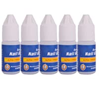 TOOGOO(R) 5 X 3g Pro Nail Art Manucure Faux Ongles Gel Colle Conseil