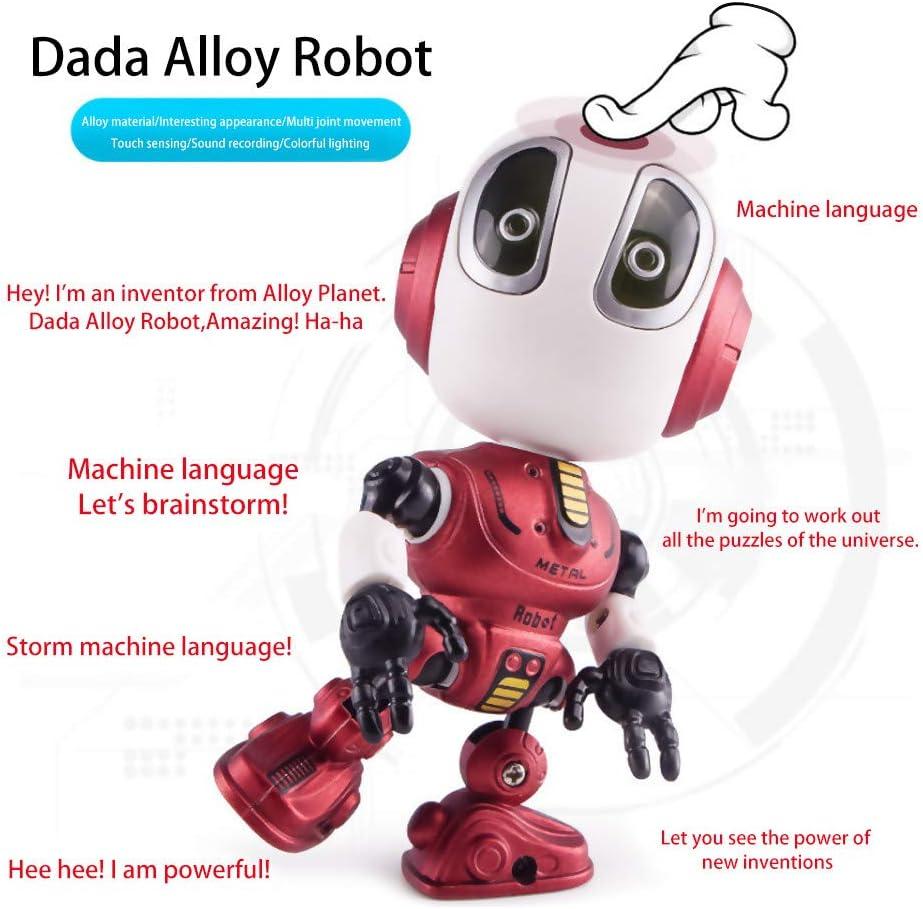 TuHao Robots de Juguete para niños o niñas – Ditto Mini Robots parlantes para niños con Cuerpo articulado, intercambiador de Voz Interactivo Robot Juguetes de Viaje calcetín, Rojo, 12 x5.3 x5.5 cm,: