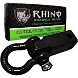 "RHINO USA Shackle Hitch Receiver, Best Towing Accessories for Trucks & Jeeps, Connect Your Rhino Tow Strap for Vehicle Recovery to This 31,418 Lbs Capacity Reciever, Mounts to 2"" Receivers!"
