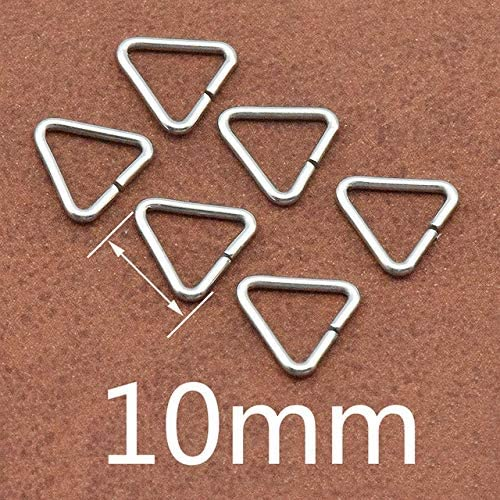 Amazon.com: Kamas 100pcs/lot Jewelry Making Findings Triangle Open Jump Rings & Split Rings DIY Handmade Jewelry Stainless Steel Connector - (Color: 10mm)