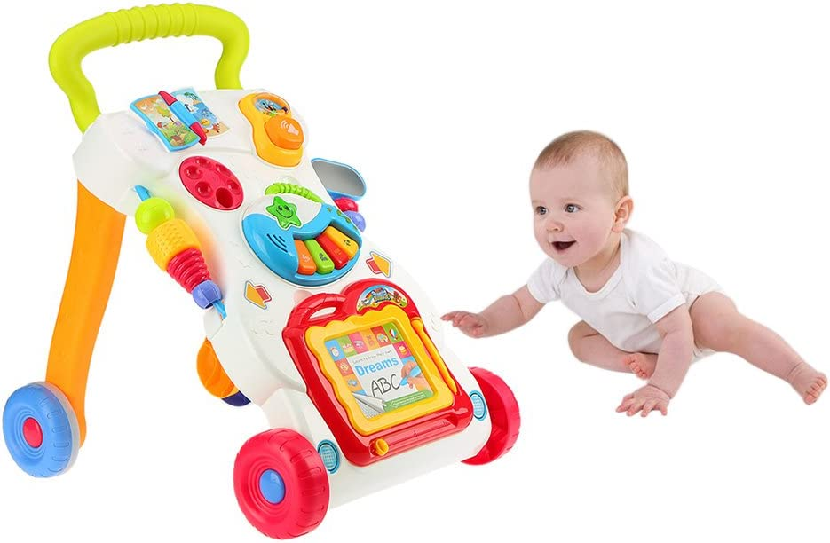 Amazon.com: goolsky Multifuctional bebé Trolley sit-to-stand ...