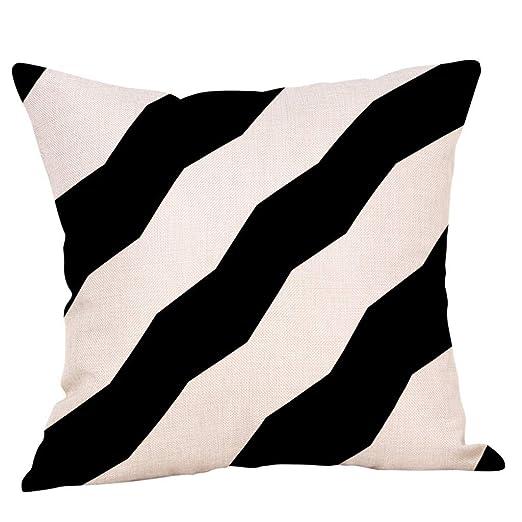 KROWMAET funda de almohada patriótica de algodón con diseño ...