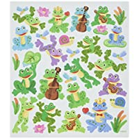 Tattoo King SK129MC-4915 Frog Fun Stickers, Multicolor