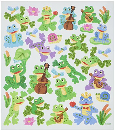 (Tattoo King SK129MC-4915 Frog Fun Stickers, Multicolor)