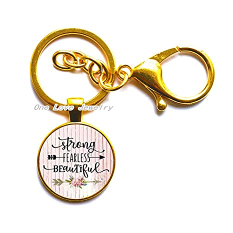 Ni36uo0qitian0ozaap Strong Fearless Beautiful Inspirational Necklace,Charm Pendant,Gift for Mom,Strong Woman,Fearless Charm,Survivor,Quote Charm,TAP300
