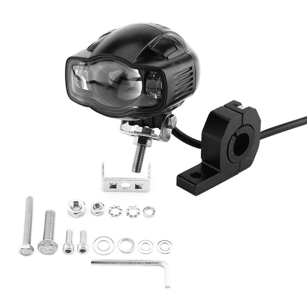 Universal Motorcycle Bike White LED Driving Headlights Spotlight Head Light