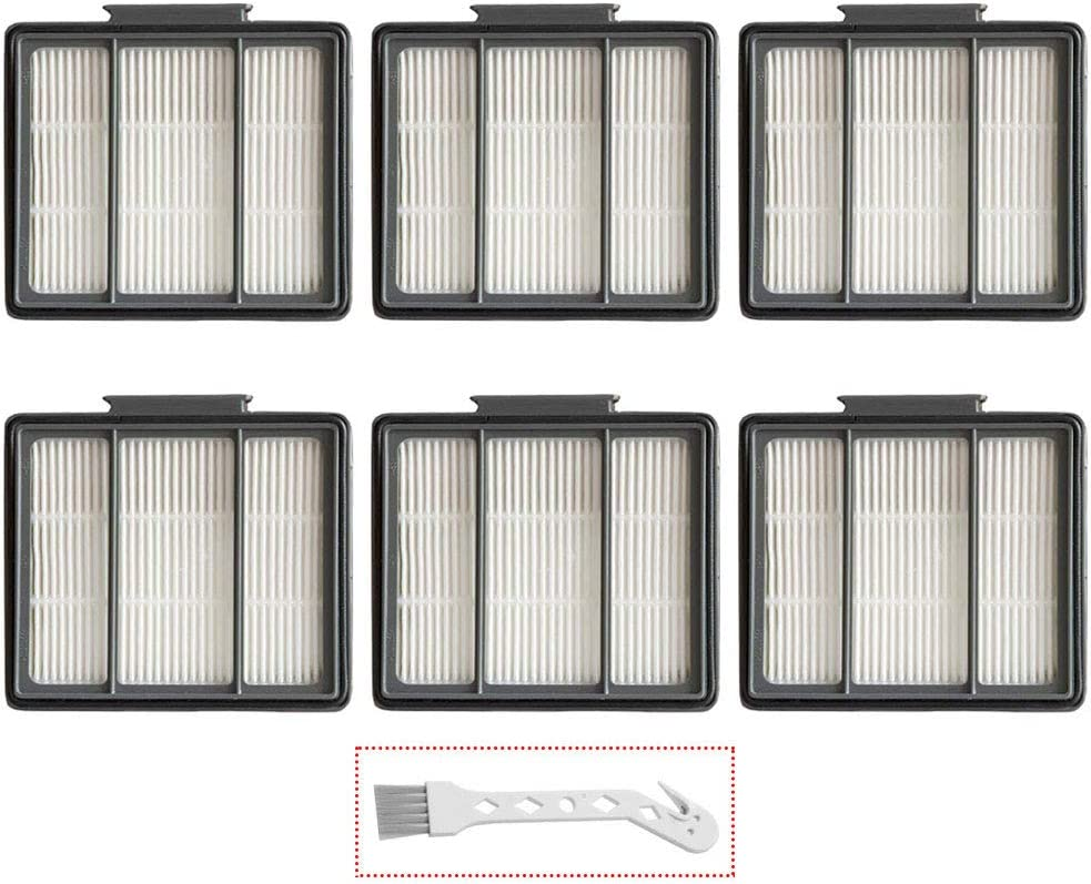 Lemige 6 Pack Replacement Filter for Shark ION Robot R85 RV850 RV850BRN RV850WV R851WV RV700_N RV720_N Vacuums, Also Fit for Shark IQ Robot R101AE Series Vacuums (6 Pack HEPA Filters)