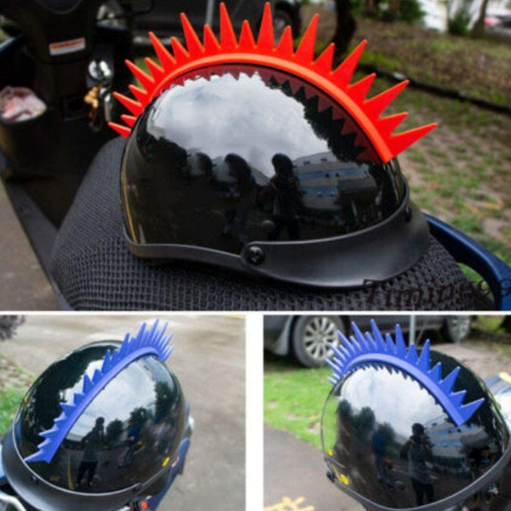 Inicio Casque de Moto D/écoratif Mohawk Autocollant Spike Bande de Caoutchouc B/âton Universel pour Casque