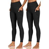2-Pack Plus Sizes Capri Leggings Super Soft Calf Length Slim Stretchy Classic Leggings Sport Yoga Skinny Pants for Women
