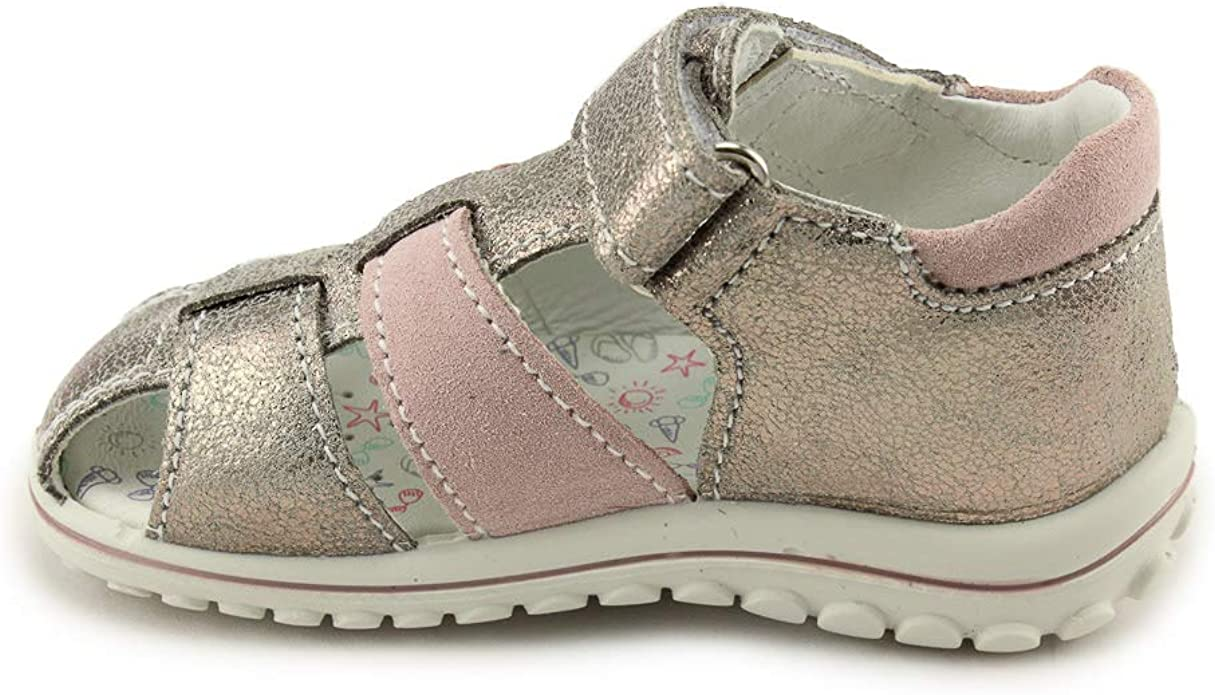 Details about  /Primigi Girls Closed Toe Leather Sandals 3378255 SC NUV MET Scam Taup