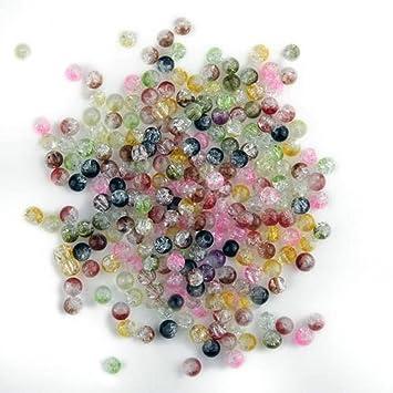 x abalorios bolas redondo cristal colores