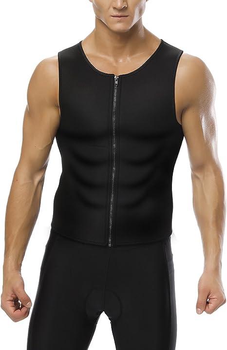 Amazon.com: hexin para hombre camisa neopreno, chaleco sudor ...