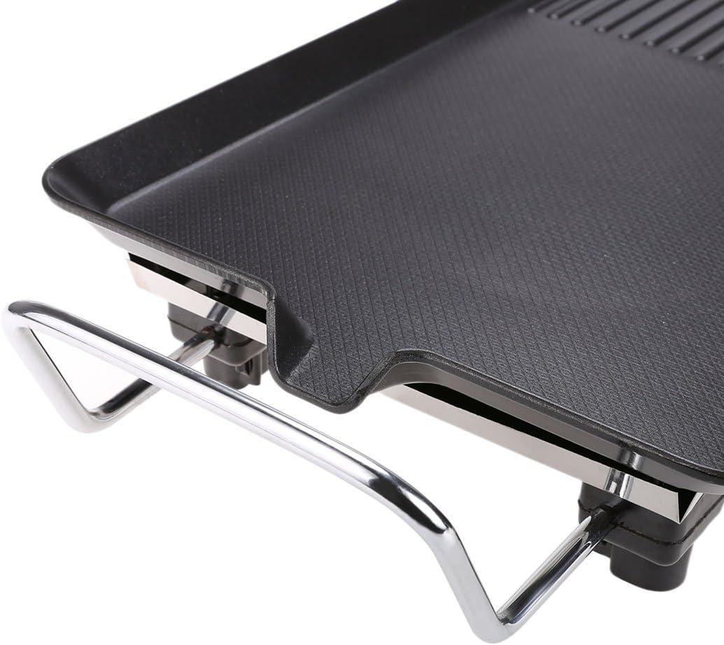befied compacto eléctrico Grill – Barbacoa Barbecue fundido Acero Con antihalft revestimiento para interior y exterior sin humo: Amazon.es: Jardín