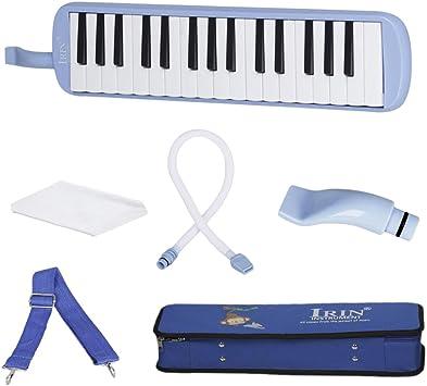 non-brand 32 Piano Llaves Melodica Instrumento Musical con Estuche Manguera Boquilla - Azul: Amazon.es: Juguetes y juegos