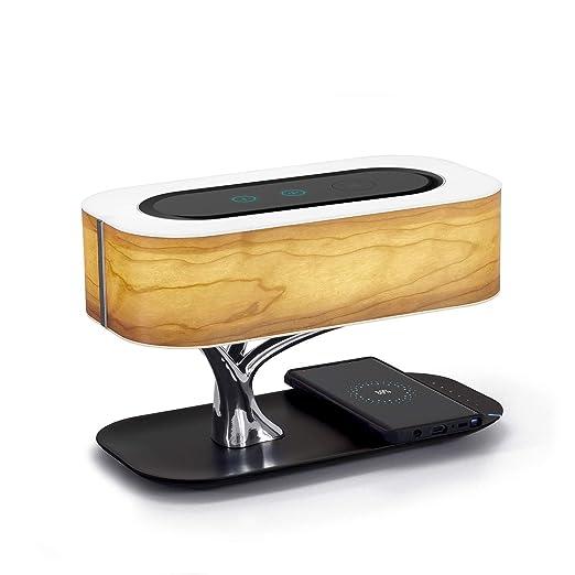 Lámpara de noche Masdio con altavoz Bluetooth y cargador ...