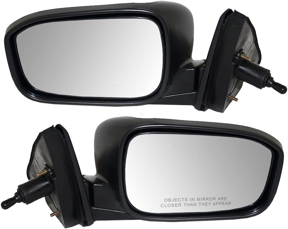 Passengers Manual Remote Side View Mirror Replacement for Honda Accord 76200SDAA03