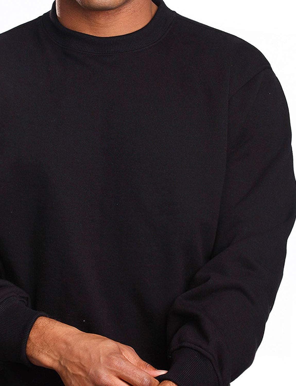 NE PEOPLE Mens Basic Heavyweight Fleece Crewneck Regular Fit Sweatshirts Top S-5XL