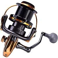 Alomejor 1 Unid Carrete de Pesca, 12 + 1BB Fundición Metálica Mar Pesca Carrete Carrete de Pesca de Alta Velocidad…