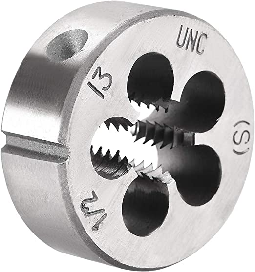 "New 1 Pc HSS Right Hand Die 1/""-8UNC Dies Threading 1-8 UNC"