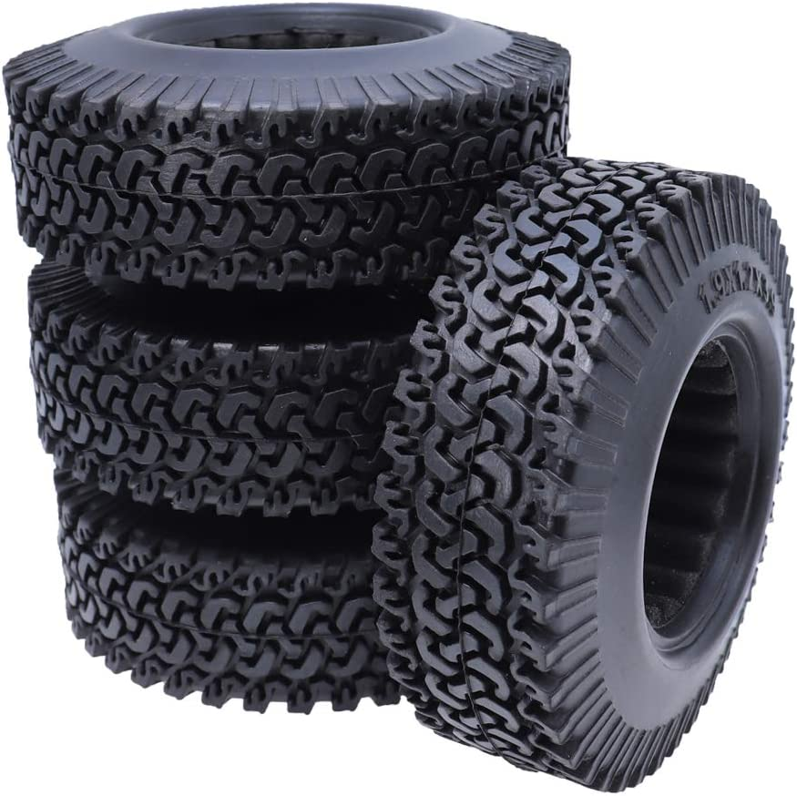 REhobby 4PCS Rock 1//10 Scale 1.9inch Tires OD 96mm for 1:10 RC Crawler and Climbing RC4WD Axial SCX10 D90 D110 CC01 Tyres