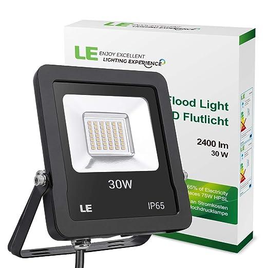 LE Foco LED Proyector de 30W, 2400 Lúmenes,Equivalente 75W SAP ...