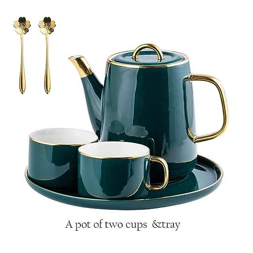 Juego de cafetera Tetera de cerámica tetera Coffee Pot Conjunto de ...