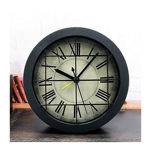 X-HH Reloj de Mesa, Reloj de Escritorio 3D Creativo Retro Estéreo ...