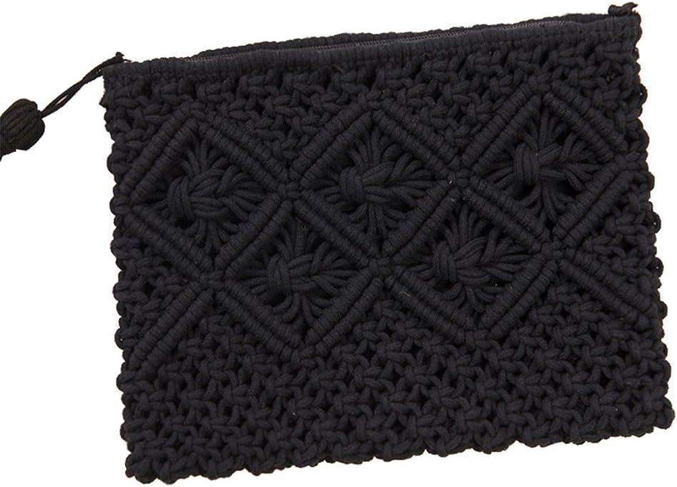 Haodou 1 Unids Bolsa de Paja Bohemia Ratán Bolso de Embrague para Las Mujeres Crochet Playa Bolso de Señora Bolso Tejido A Mano Flap Bolsa: Amazon.es: Equipaje